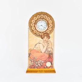 Horloge de table Mucha Topaze