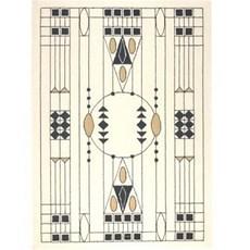 Tapis Art Nouveau géométrique 1905 Otto