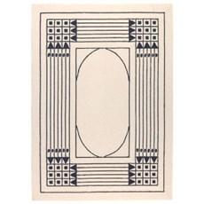 Tapis géométrique Art Nouveau 1905 Vienne
