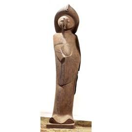 Sculpture de jeune fille chinoise