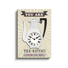 Horloge Tea-riffic