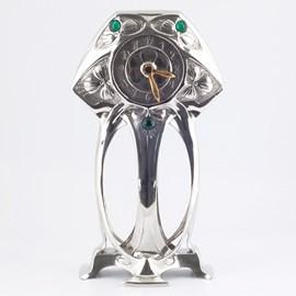 Horloge Art Nouveau en Etain Myrte