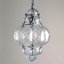 Lampe suspendue vénitienne Medium Bellezza Transparent