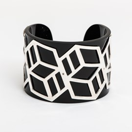 Bracelet Noir Geo