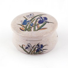 Boîte en porcelaine Iris Bleu
