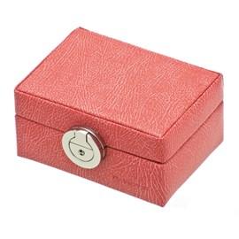 Boîte à anneaux Déco Corail/Rose