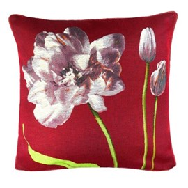 Coussin Tulipes violettes