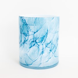 Vase Cylindre Vase Marbre Bleu