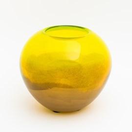 Vase Globe Vert & Or