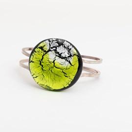 Bracelet Minuit Lune Péridot/Argent