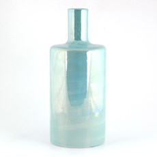 Vase Cylindre Lustre Turquoise Lustre Turquoise