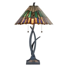 Tiffany Lampe de table en forme de fleur