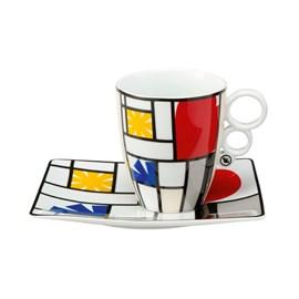 Tasse et soucoupe Mondrian