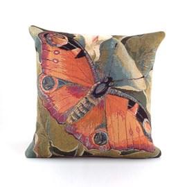 Coussin Paon Paon Papillon