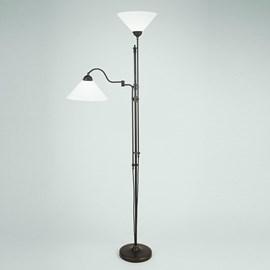 Lampe de lecture au sol avec charnière et uplighter   Cono