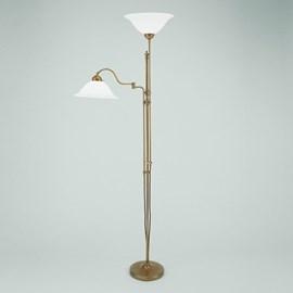Lampe de lecture au sol avec charnière et uplighter   Chapeau