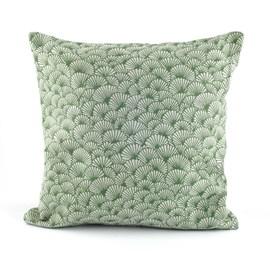 Coussin Elegant Ginkgo   Vert