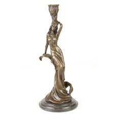 Bougeoir en bronze / Sculpture Carmen