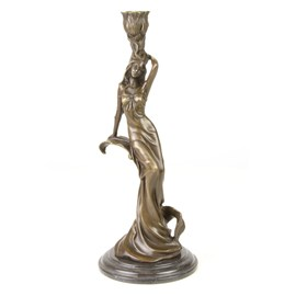 Bougeoir en bronze / Sculpture Carmen