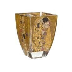 Bougeoir en verre Gustav Klimt | Le Baiser