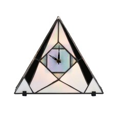 Tiffany Horloge / Lampe de Table French Art Deco