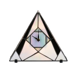 Tiffany Horloge / Lampe de Table French Art Deco