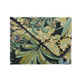 Chemise origami / Clutch Peacock Jungle