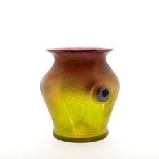 Vase Art Nouveau Plumes