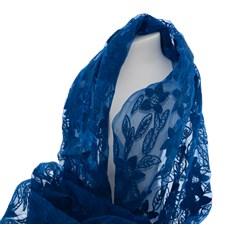 Echarpe Soie Bleue