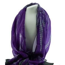 Echarpe en soie Purple Batik
