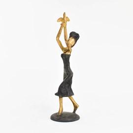 Sculpture en bronze / Oiseau d'or
