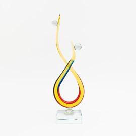 Sculpture En Verre Connectée Ensemble