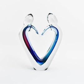 Sculpture en verre Connectivité Couleur