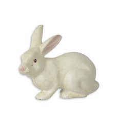 Sculpture de lapin en fonte