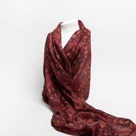 Foulard en soie Rosebow Red