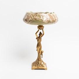 Sculpture en porcelaine avec bol