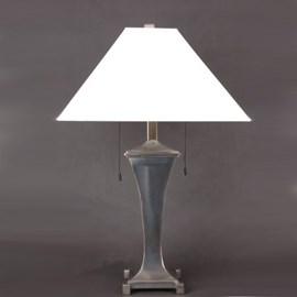 Lampe de table Curve avec abat-jour en lin