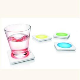 Dessous de verre avec L.E.D.
