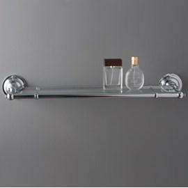 Etagère de salle de bain Chrome avec verre