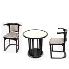 Set original Fledermaus/ Table basse et 2 chaises