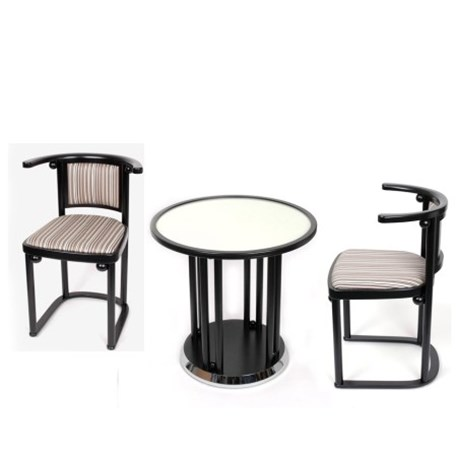 Set original Fledermaus/ Table basse et 2 chaises