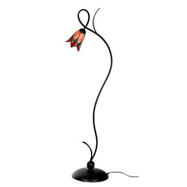 Tiffany Lampadaire Lovely Flower Red