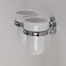 Support avec 2 tasses en porcelaine