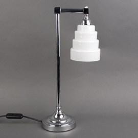Lampe de salle de bains Lampe de table plaquée chrome avec verre