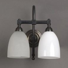 Tasse de lampe de salle de bains cintrée avec 2 lumières