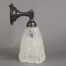 Lampe de salle de bains abat-jour en bois sculpté Abat-jour étroit