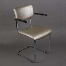 Bold Chrome Tube Chair Basic avec accoudoirs