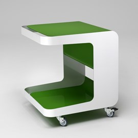 Retro Roll Container on Wheels Vert