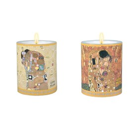 Lot de 2 bougies Klimt
