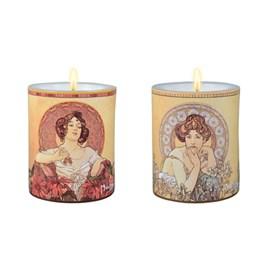 Lot de 2 bougies Mucha